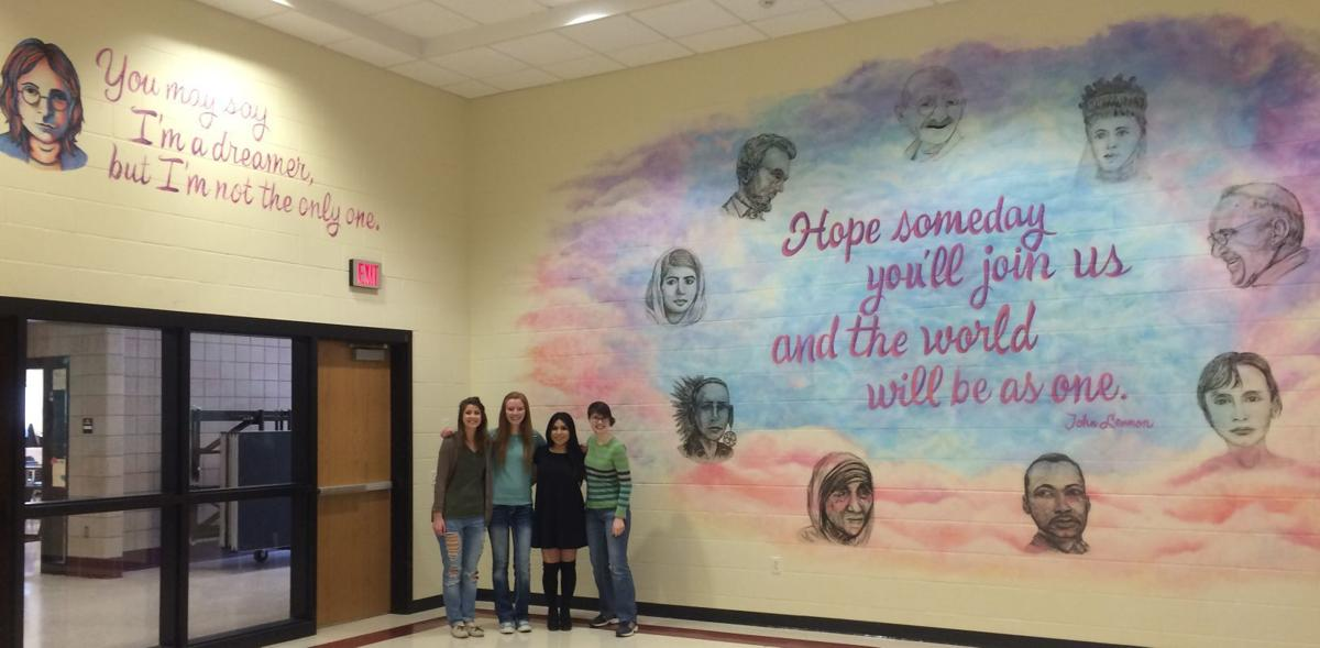 Holmen High School mural
