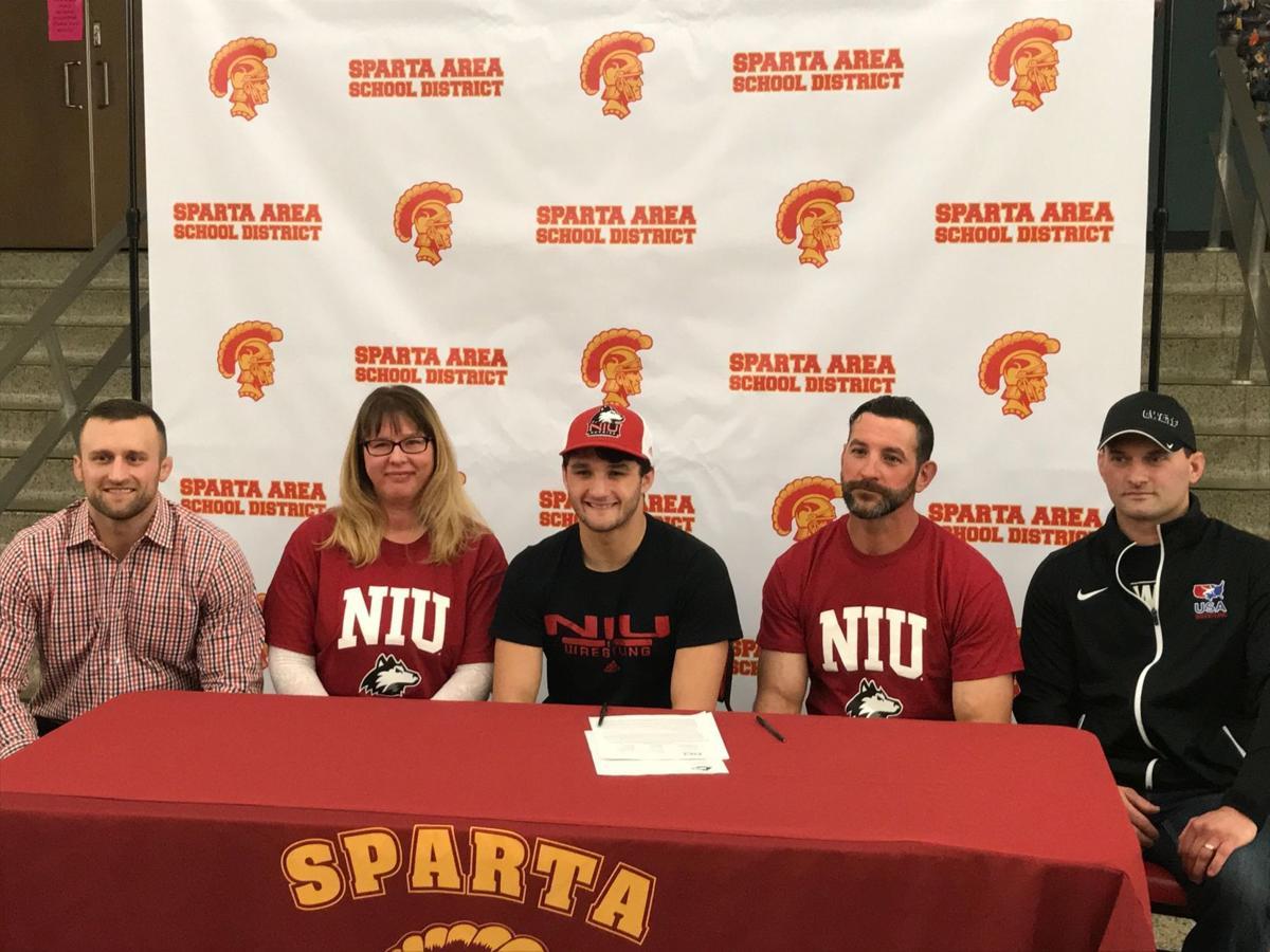 Sparta's Hayden Krein signs