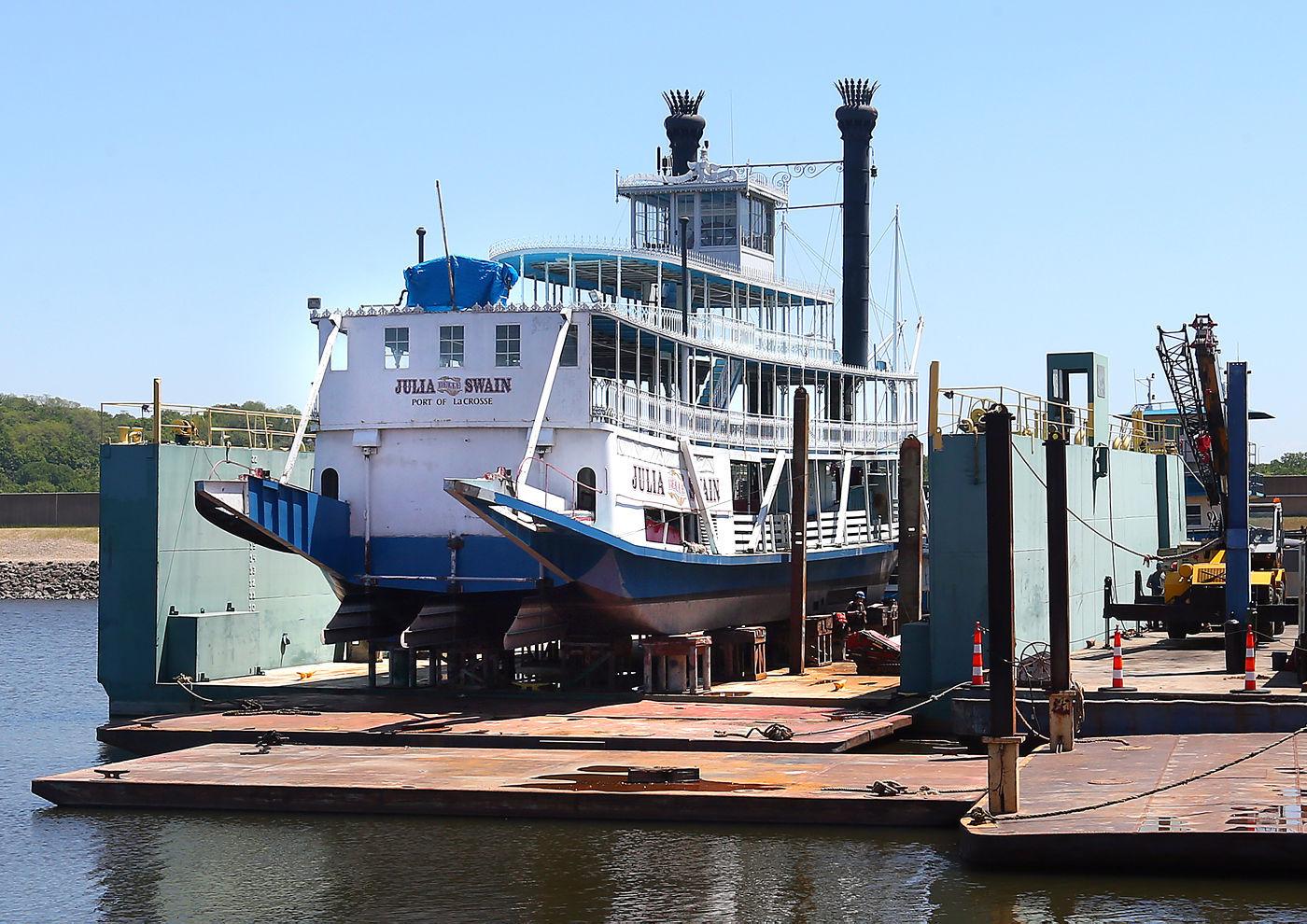 RIVER BOAT BELLE OF LOUISVILLE PADDLE WHEEL STEAMER SHIP SILVER BAR MULTI DECKER