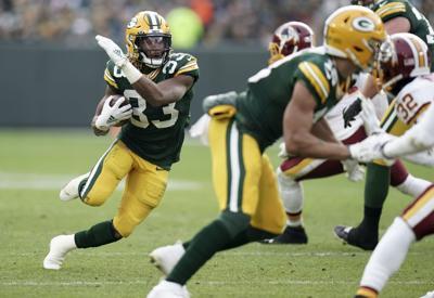 Aaron Jones - Packers vs. Redskins