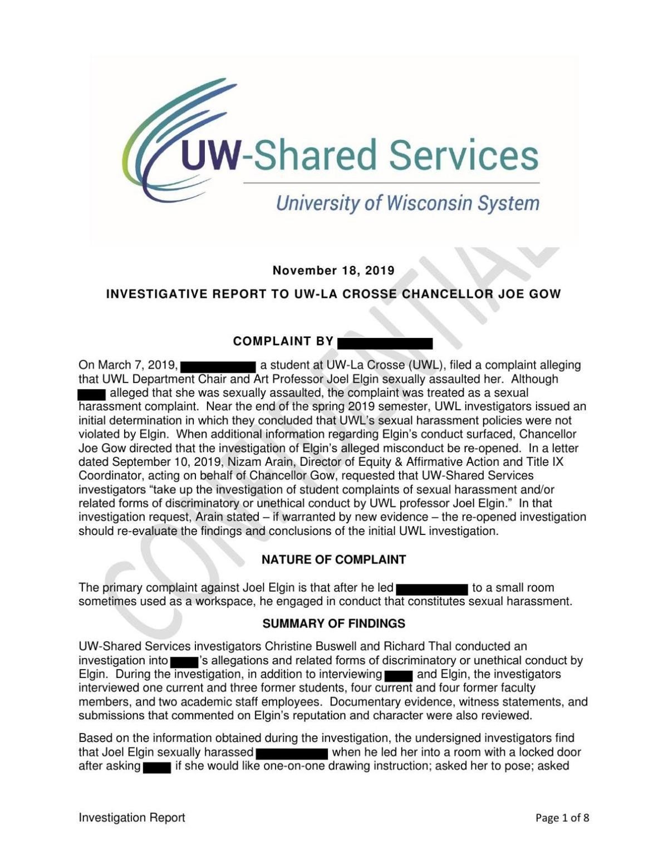 UWSS investigative report