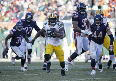 0bd74cd5c17 Packers Bears Football. Green Bay Packers running back Ty Montgomery (88)  ...