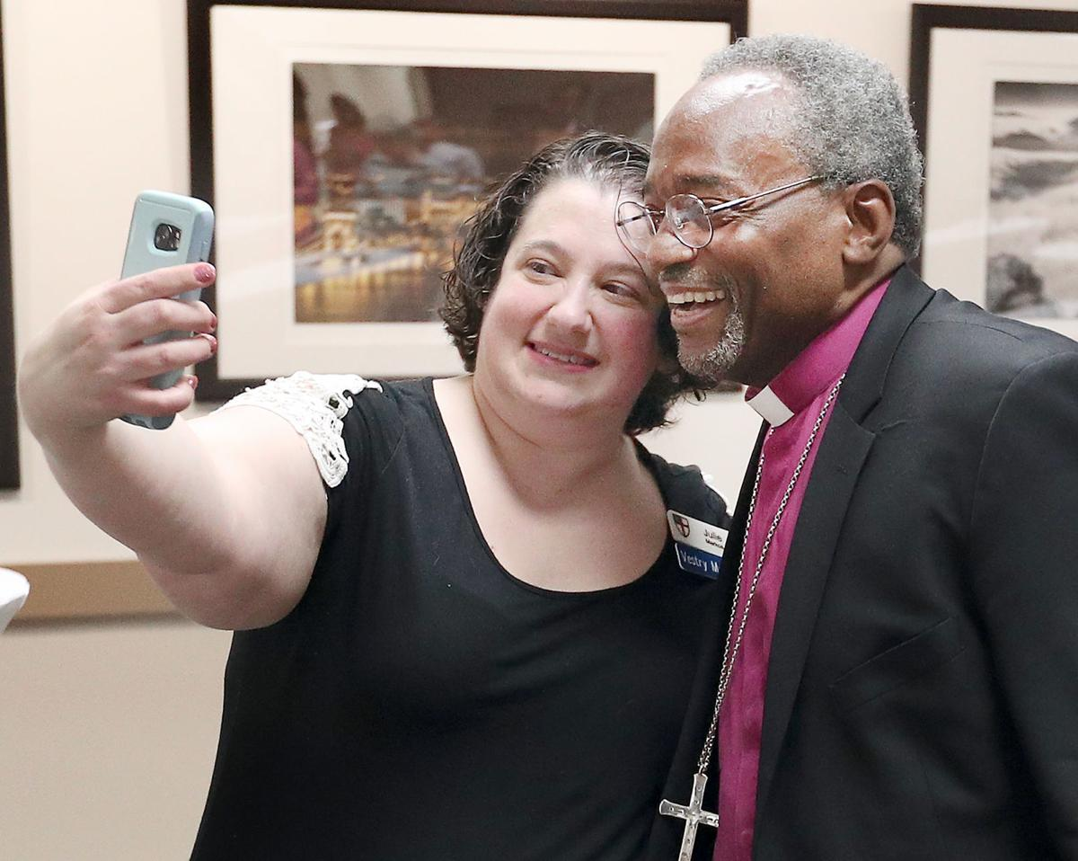 Bishop Michael Curry and Julie Markos