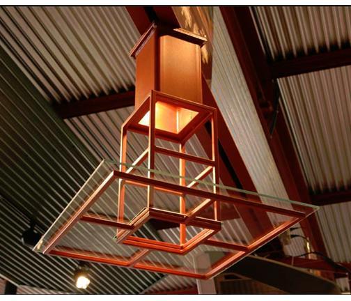 Steel Overhead Light Fixture