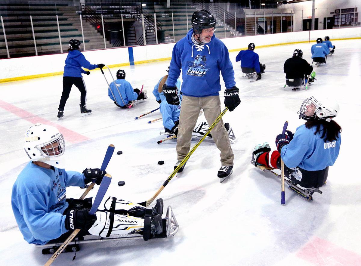 Sled hockey coach for STAR story