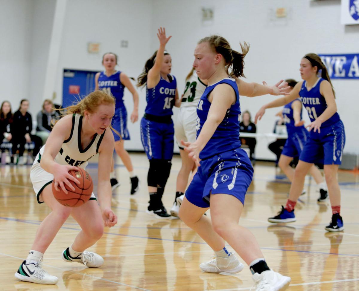 Cotter girls playoff basketball vs La Crescent-Hokah