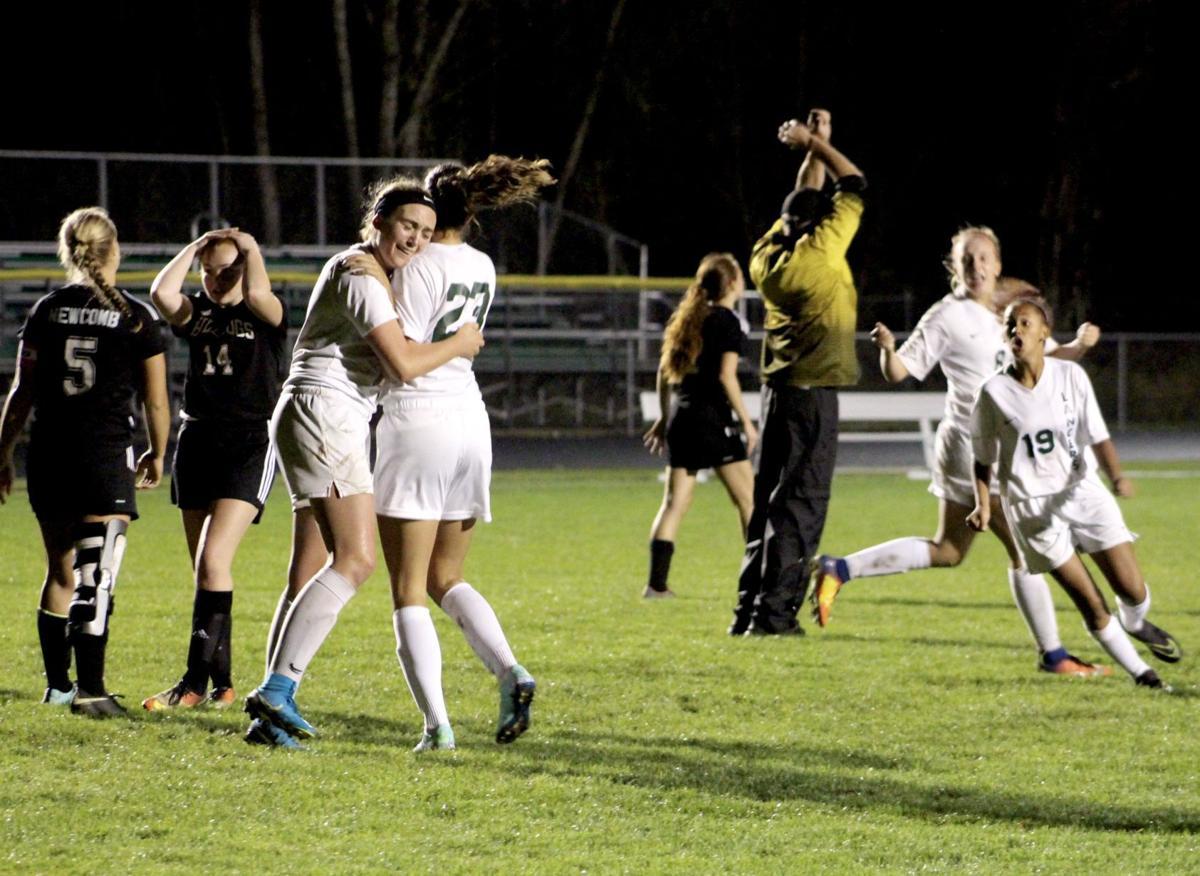 Lancer girls soccer game-winner