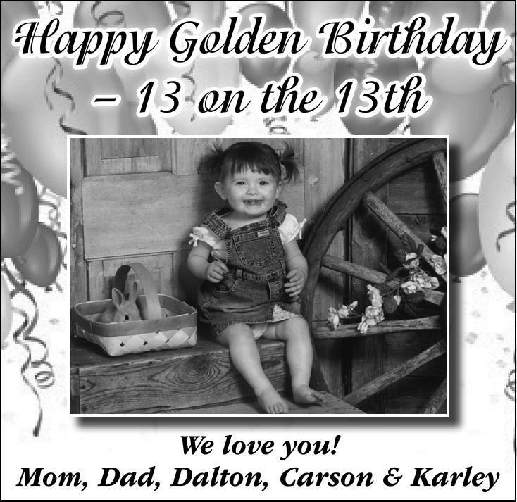 Happy Golden Birthday