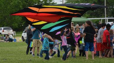 Kids and the giant kite