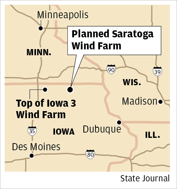Saratoga Wind Farm map