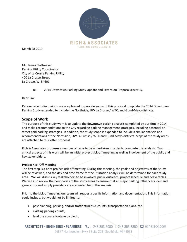 Rich & Associates Parking Study Proposal