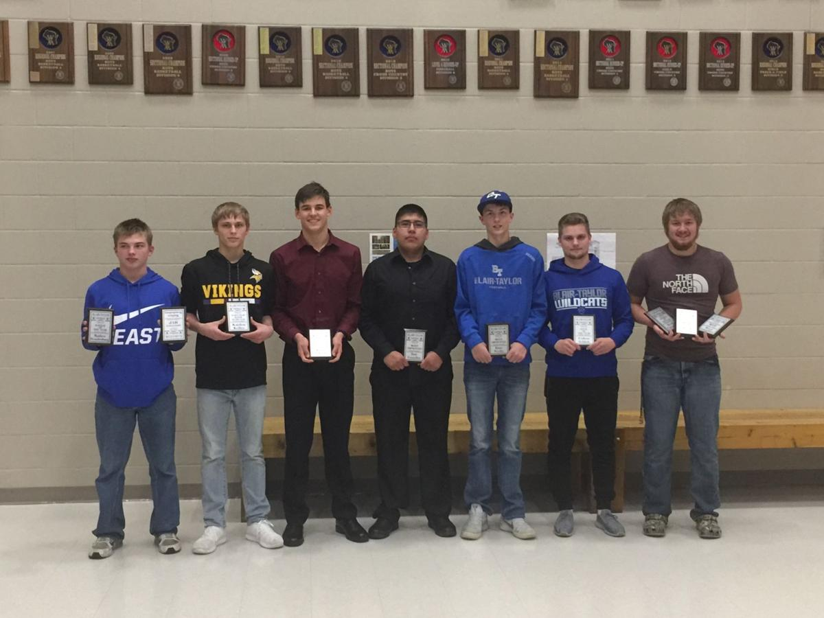 Blair-Taylor recognizes football players during awards night