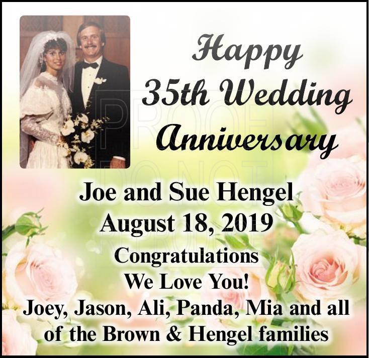 Hengel anniversary