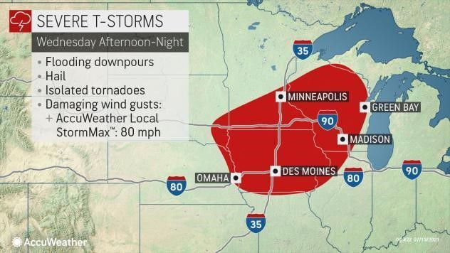 Severe storms Wed afternoon-night by AccuWeather