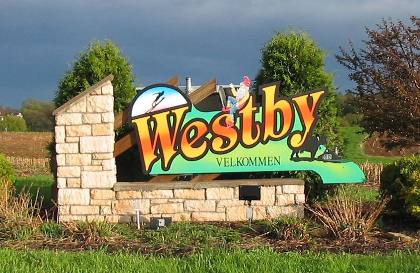 Westby city sign