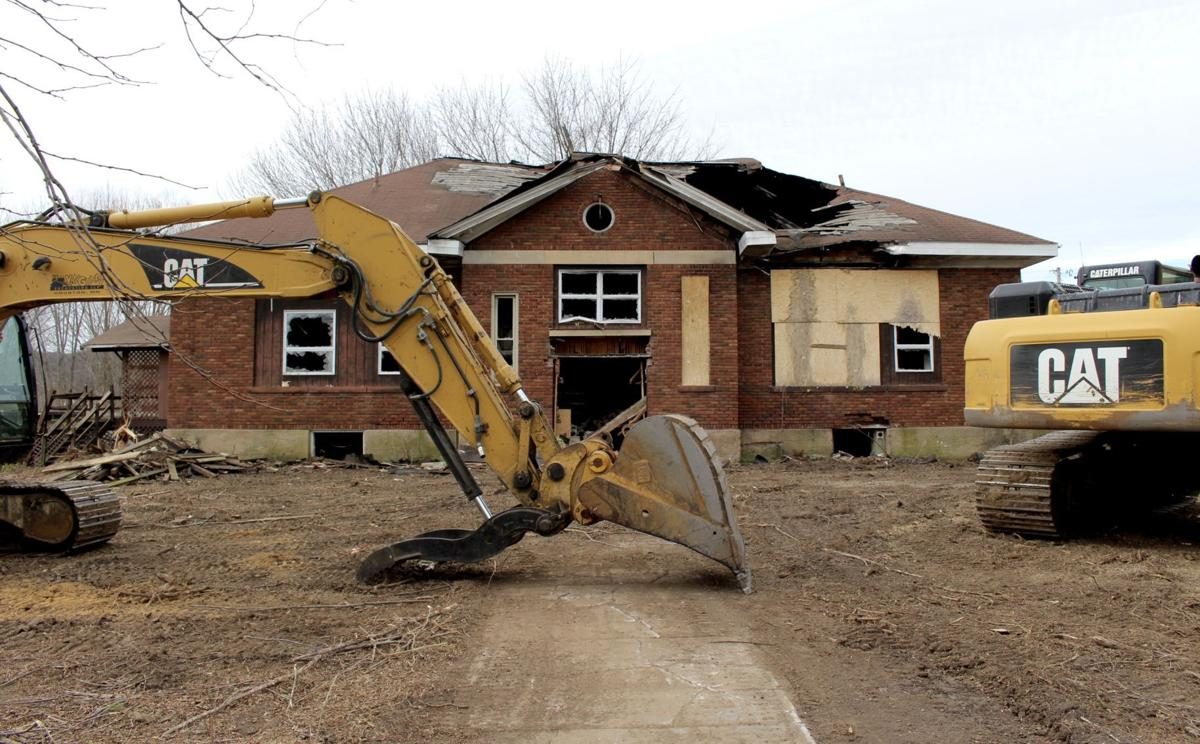 Money Creek school house bulldozers