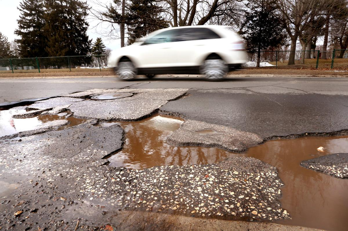 Spring thaw reveals La Crosse's cratered streets