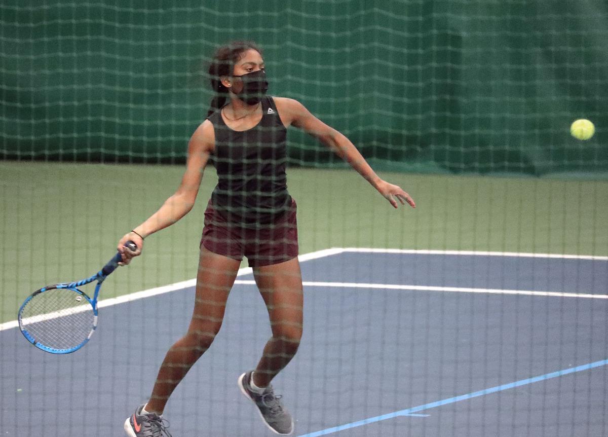 WIAA girls tennis photo: Middleton freshman Netra Somasundaram