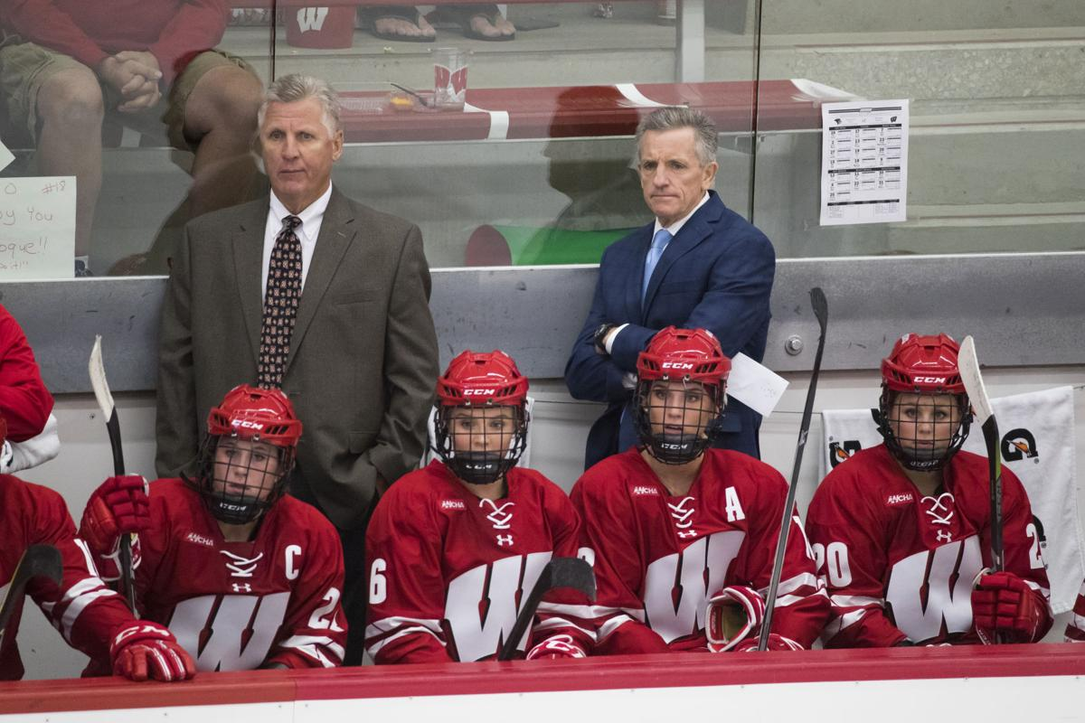 Badgers women's hockey bench