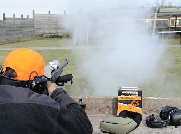 Deer hunting target practice shooting file photo