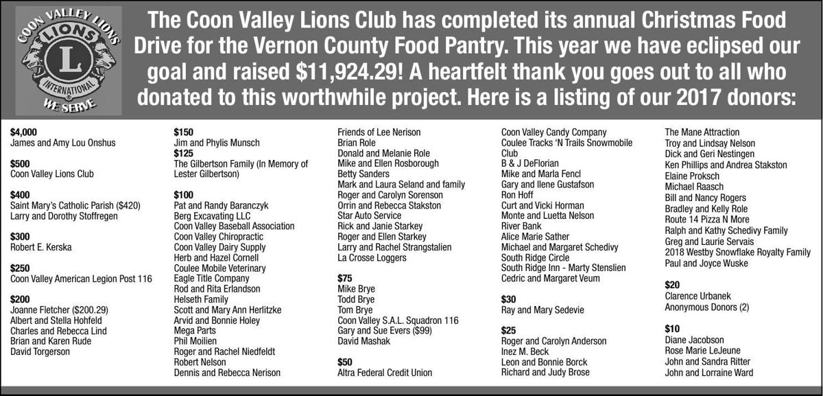 Coon Valley Lions Club