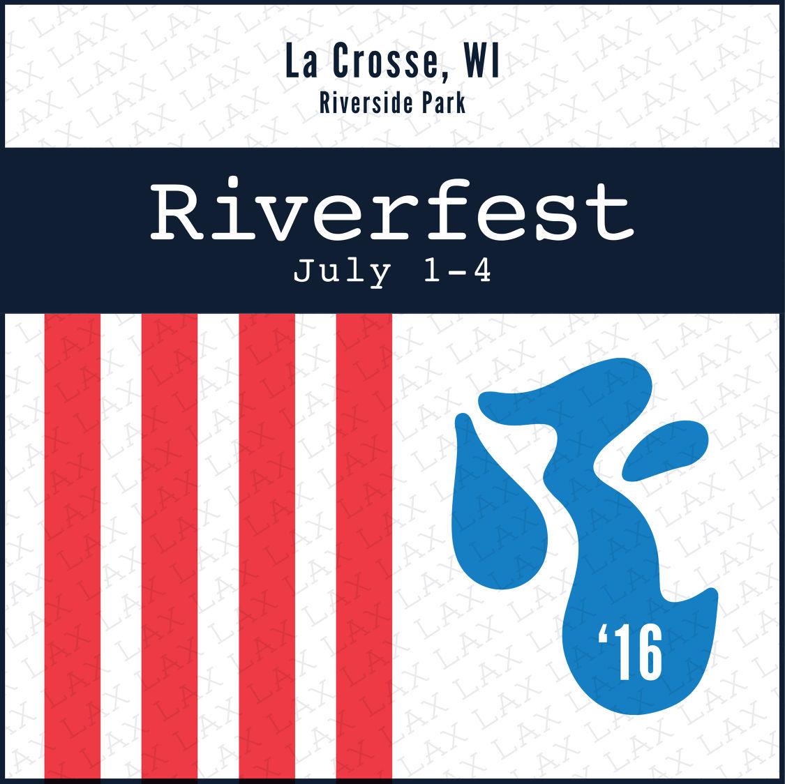 2016 Riverfest button
