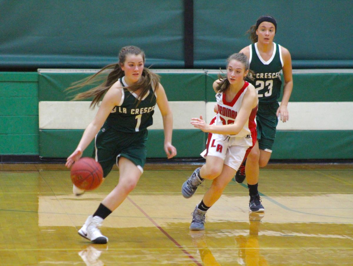 Lancer girls basketball rush