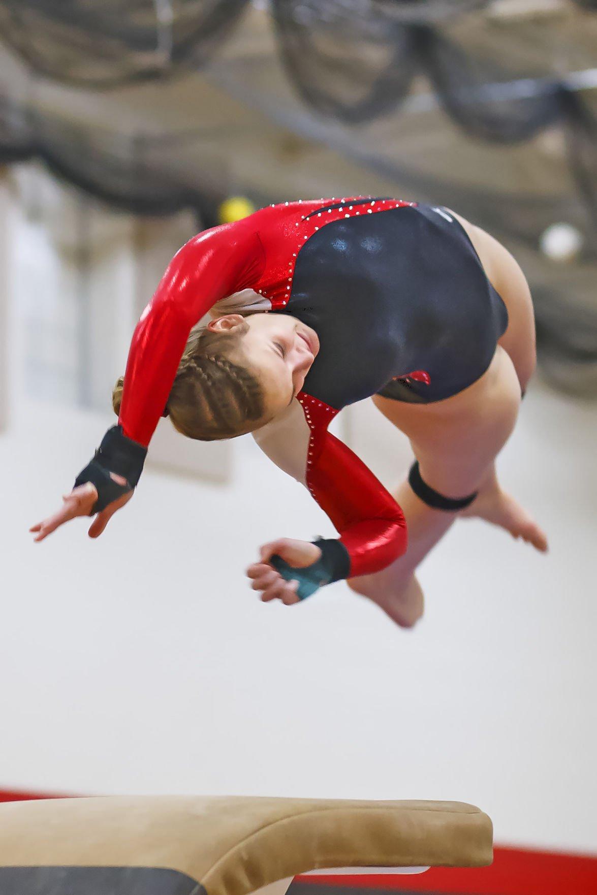 westby gymnasts gain valuable experience westbynorsemen gymnastics bekah dwyer valult
