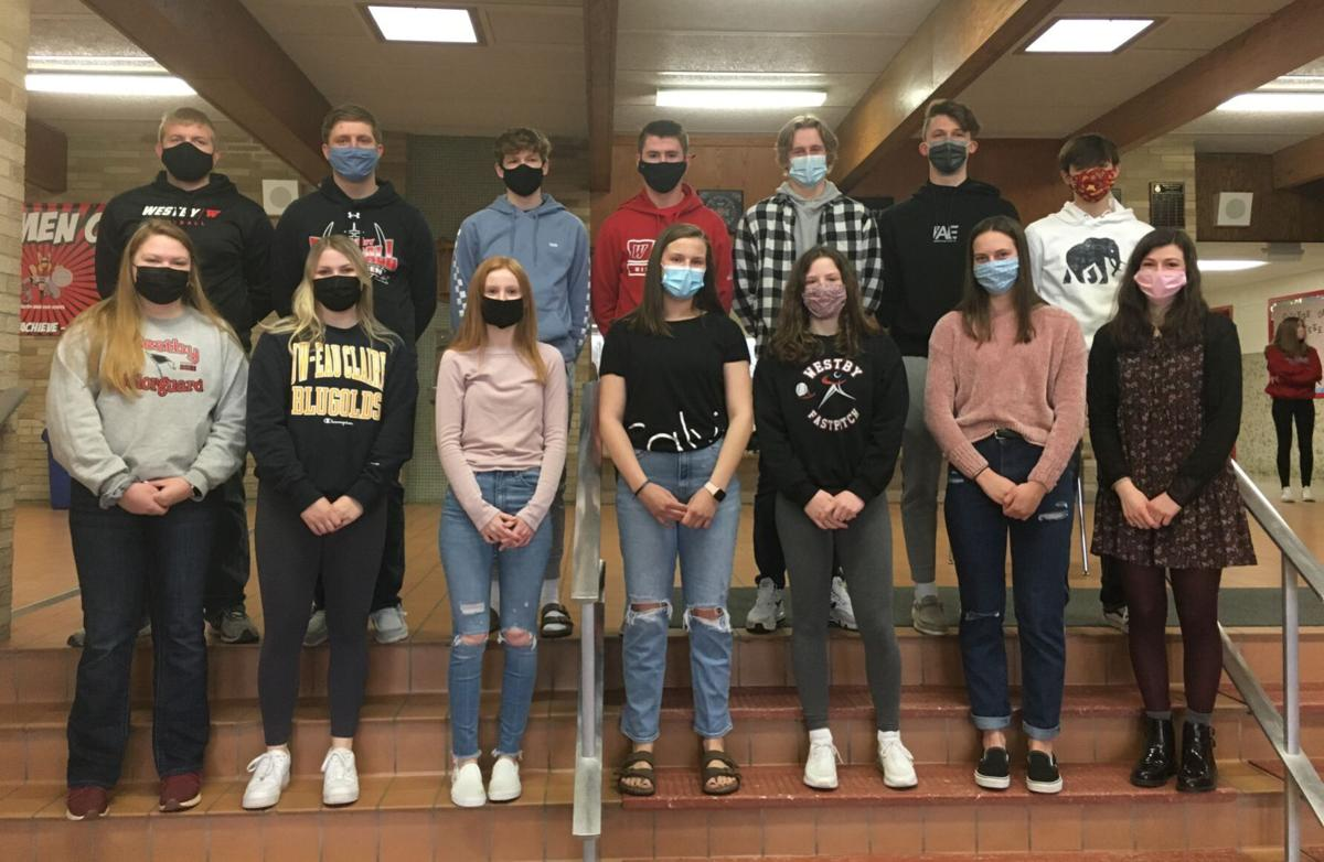 Westby Area High School senior prom court 2021