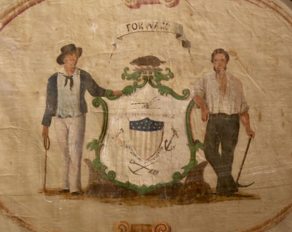 State seal side of La Crosse Guard flag