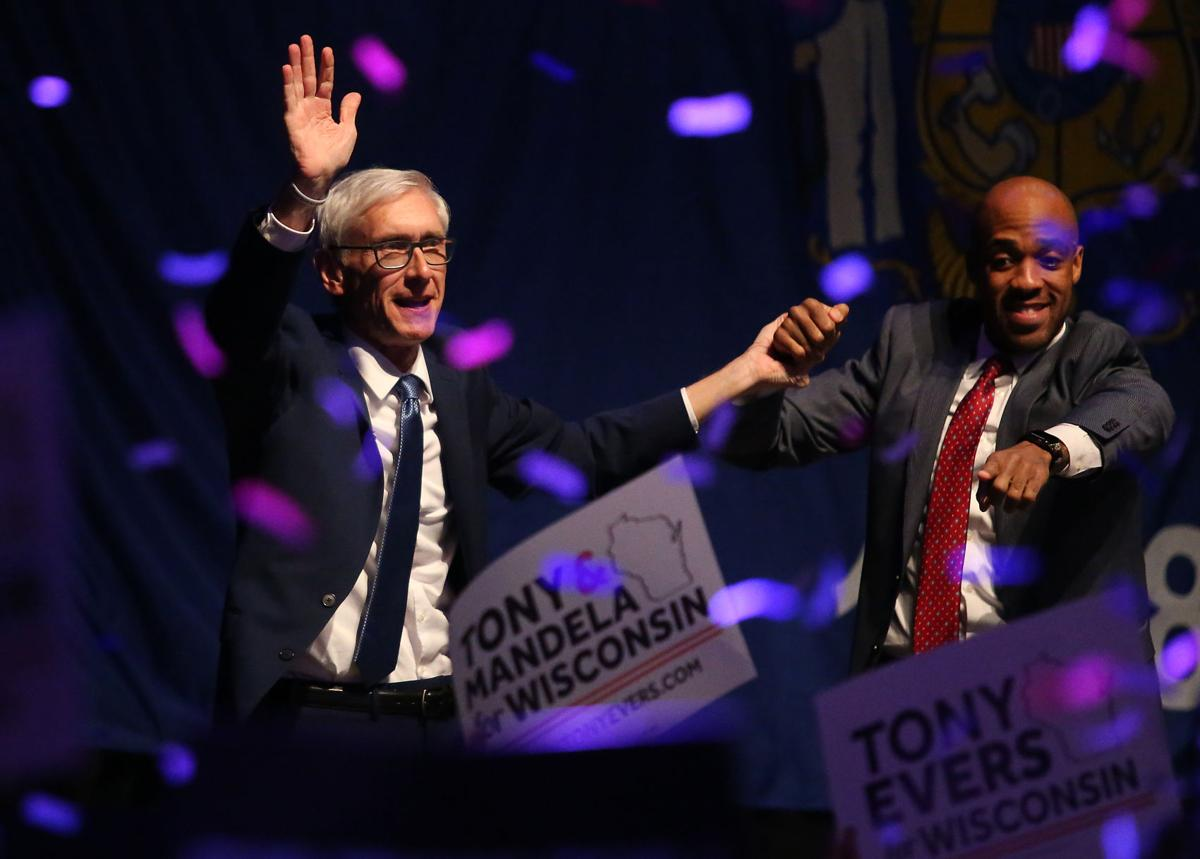 Tony Evers claims victory early Wednesday