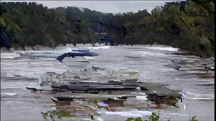 Video: Boat goes over dam in Black River Falls     lacrossetribune com