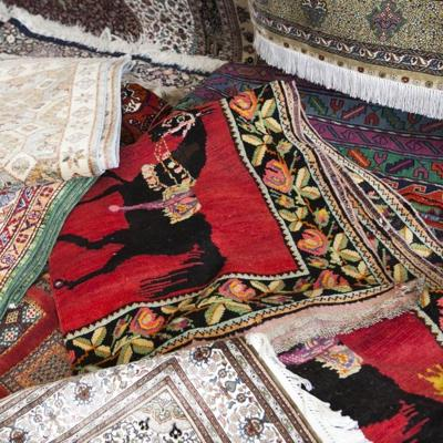 Brightly Colored Oriental Rugs Make Striking Wall Hangings Especially For Large Es