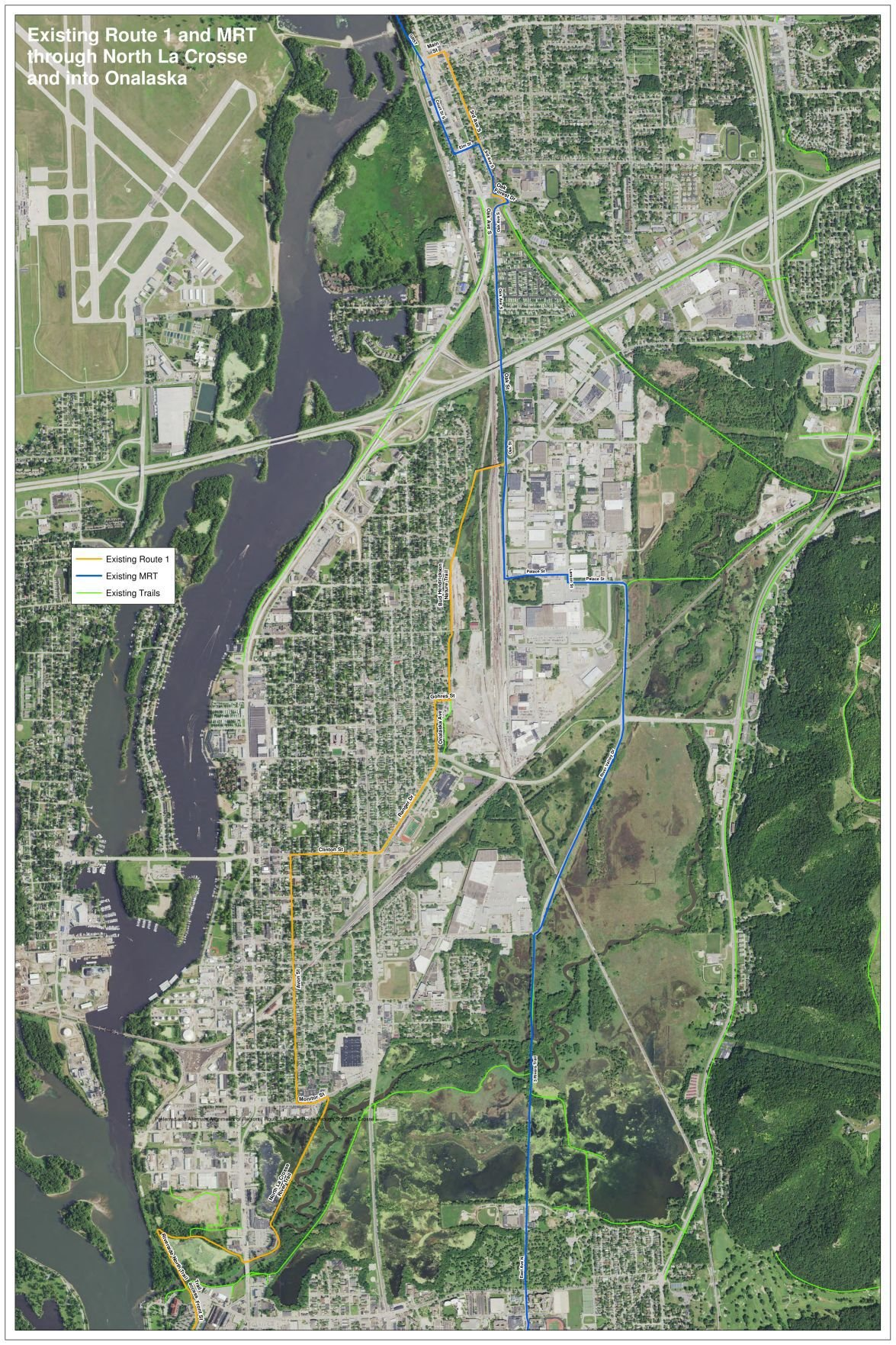 Mississippi River Trail proposed route North
