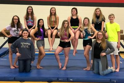 Westby High School gymnastics team 2018