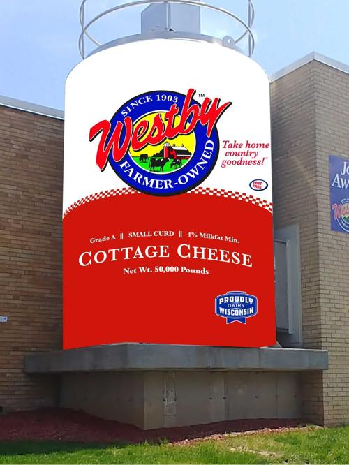 Cottage cheese silo