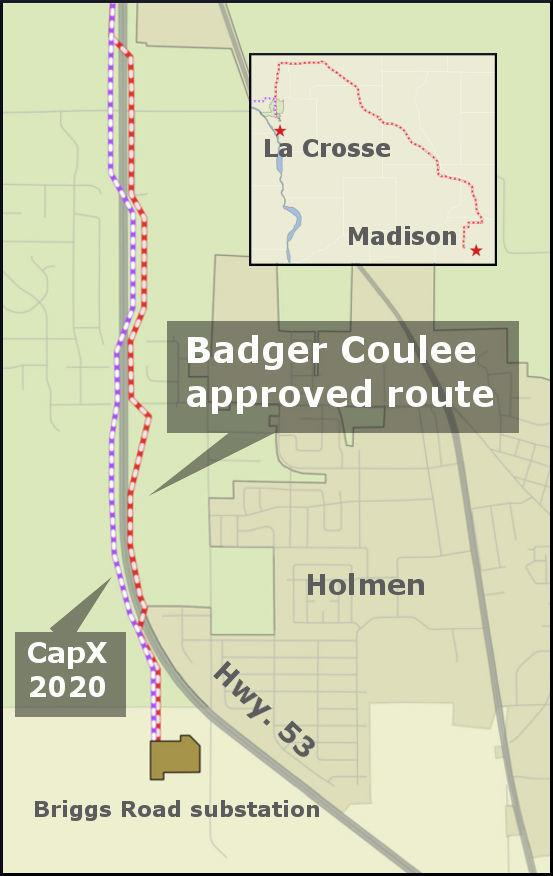 Badger-Coulee town of Holland locator map