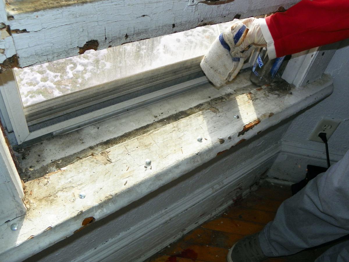 Lead paint window