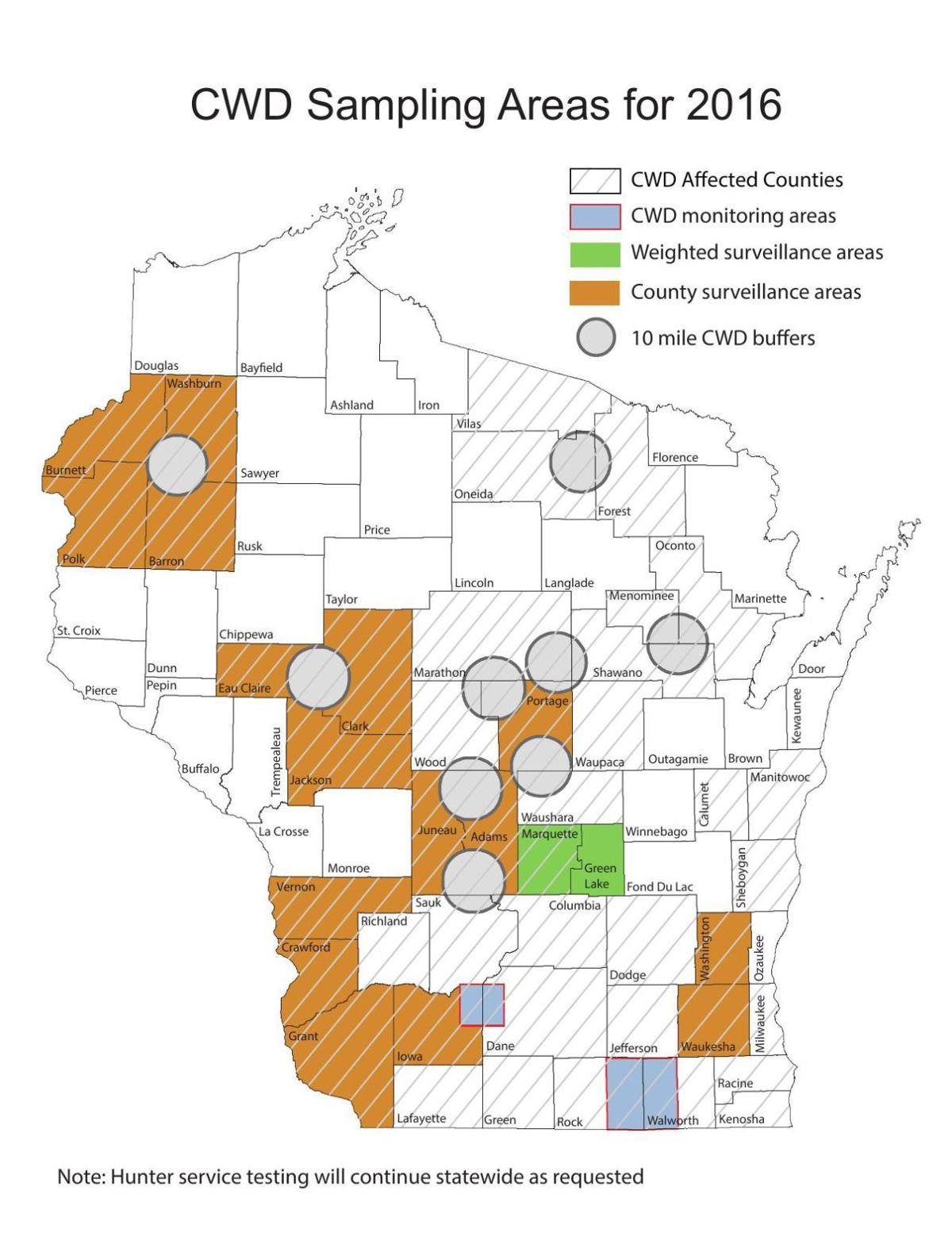 CWD Sampling Areas