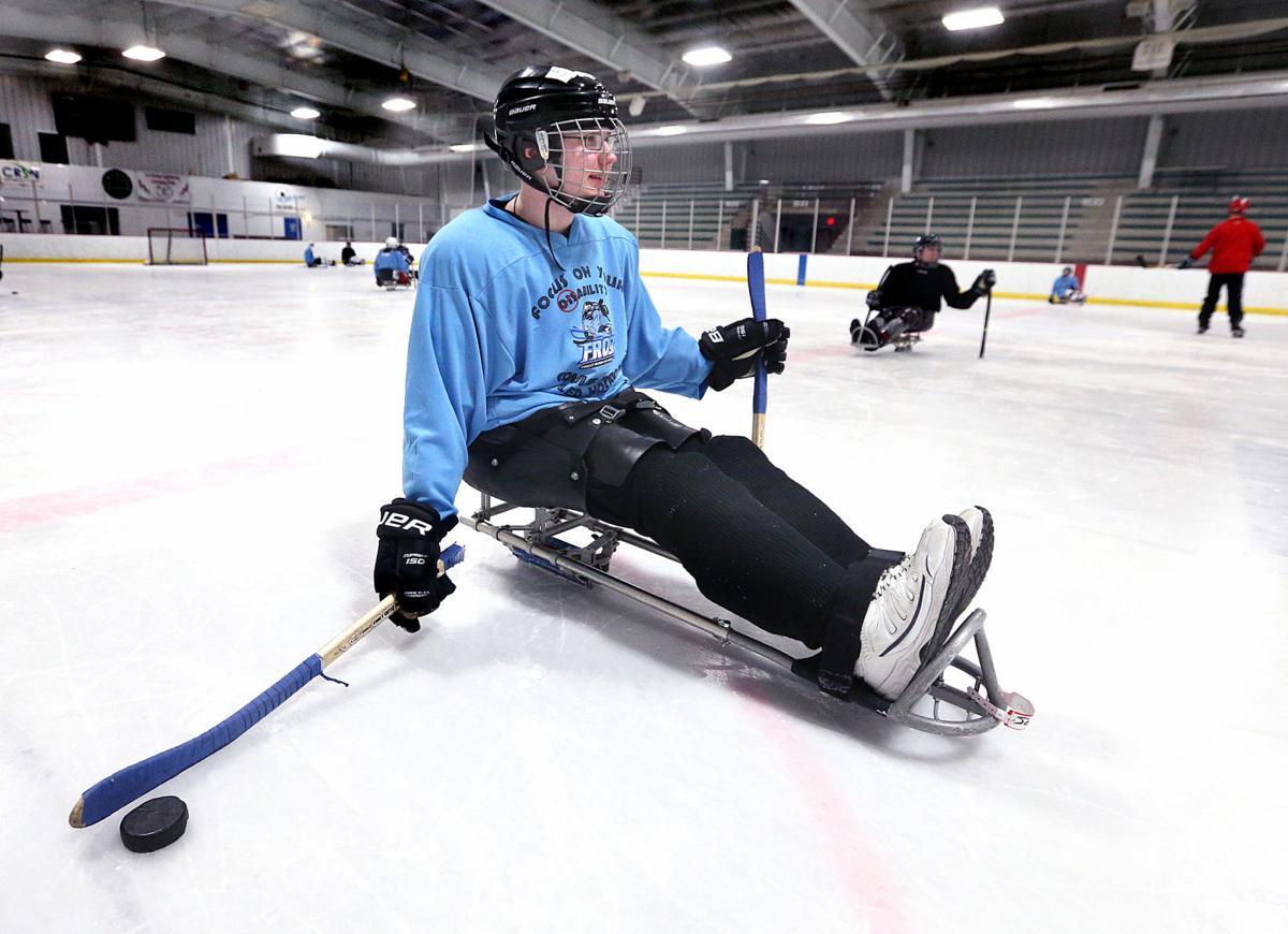 Jackson Larson sled hockey