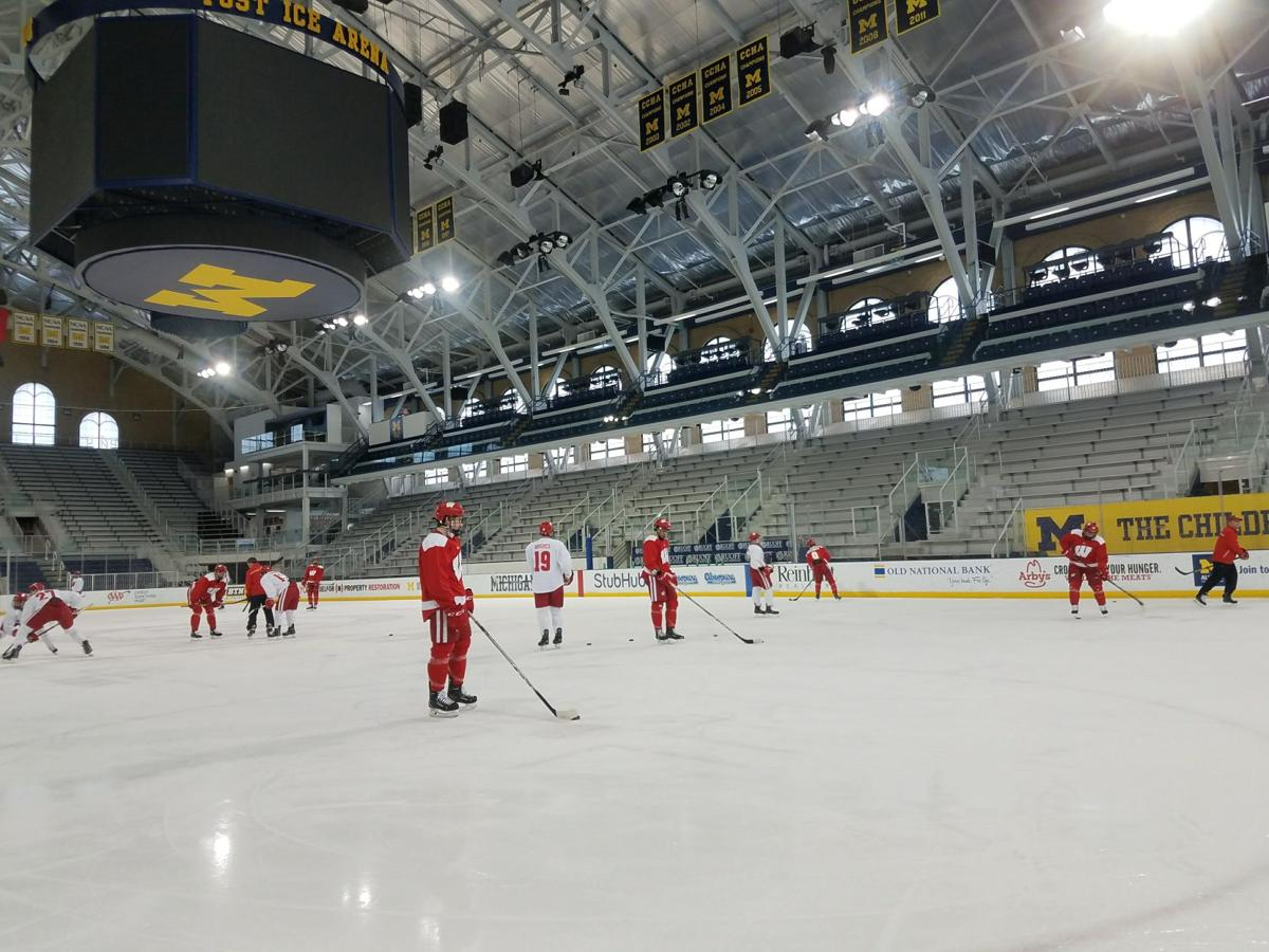 Badgers at Yost Ice Arena