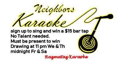 Karaoke at the Neighbors
