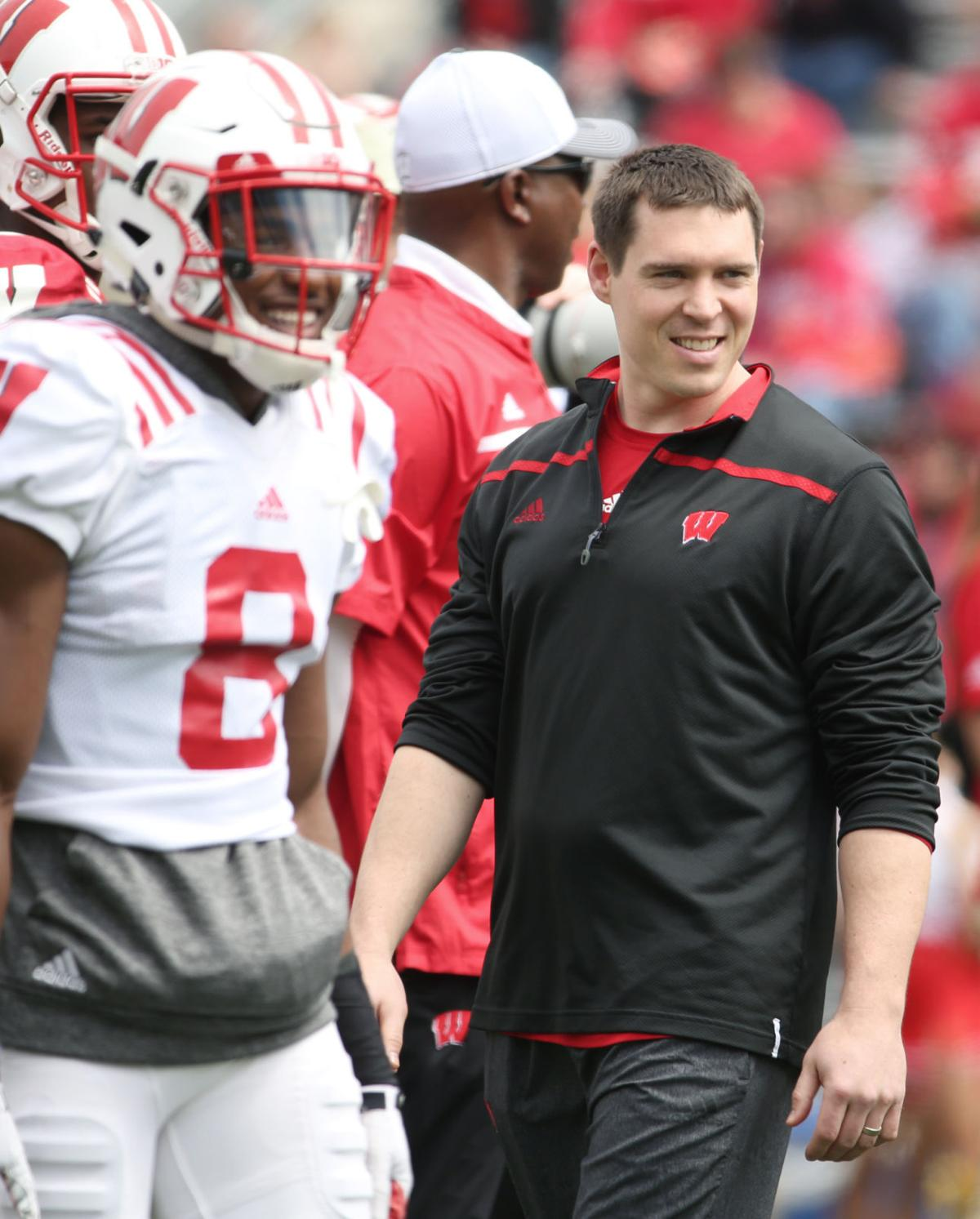 Jim Leonhard, UW spring game, State Journal photo