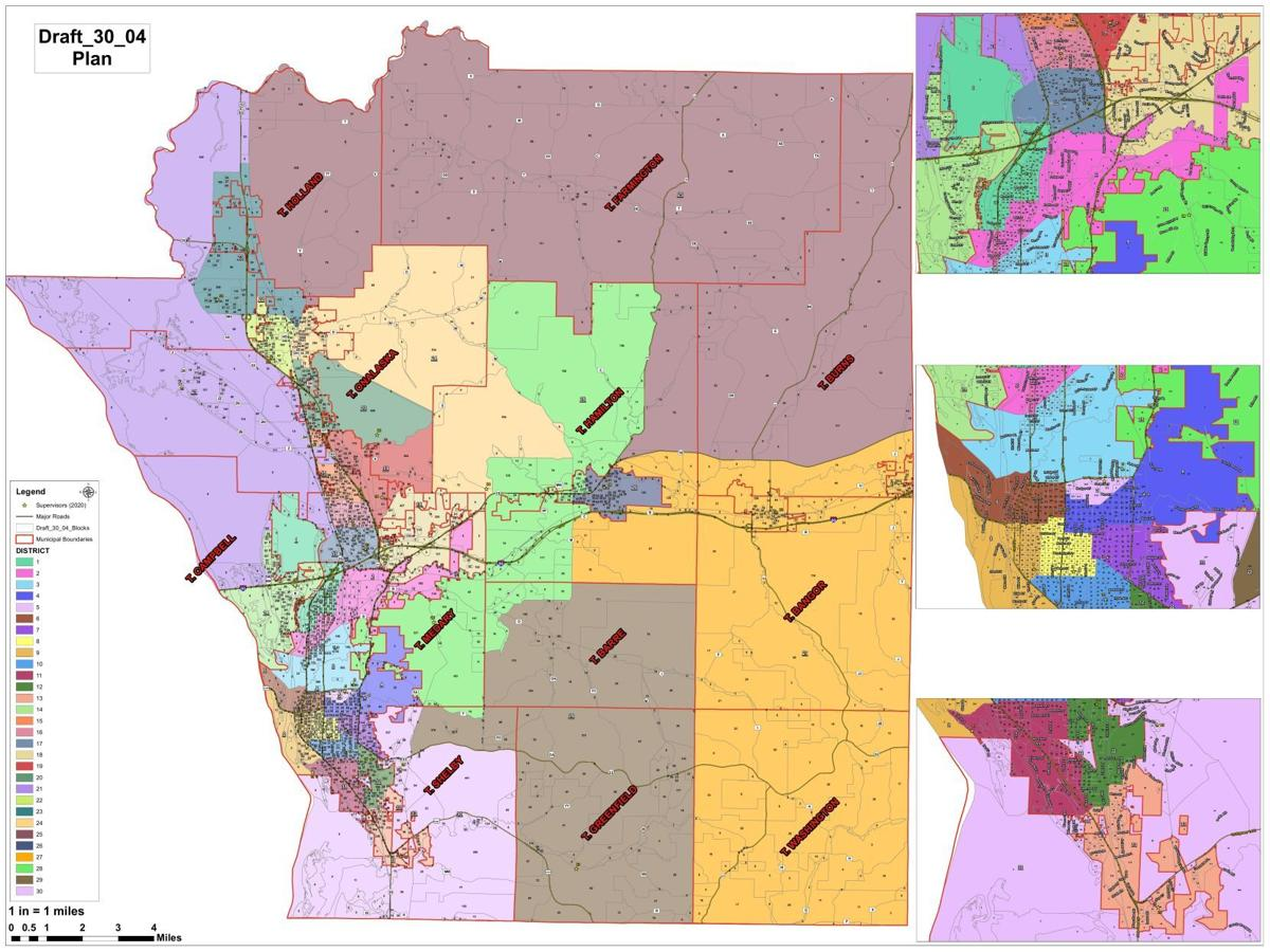 La Crosse County tentative redistricting map
