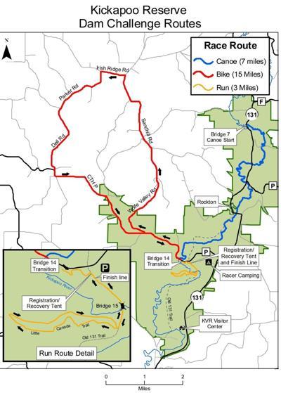 Kickapoo Reserve Dam Challenge map