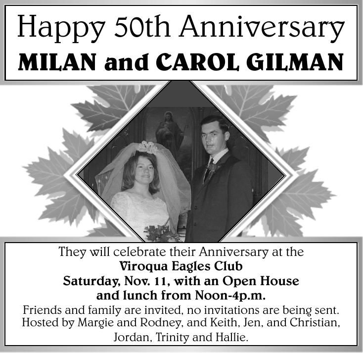 MILAN and CAROL GILMAN