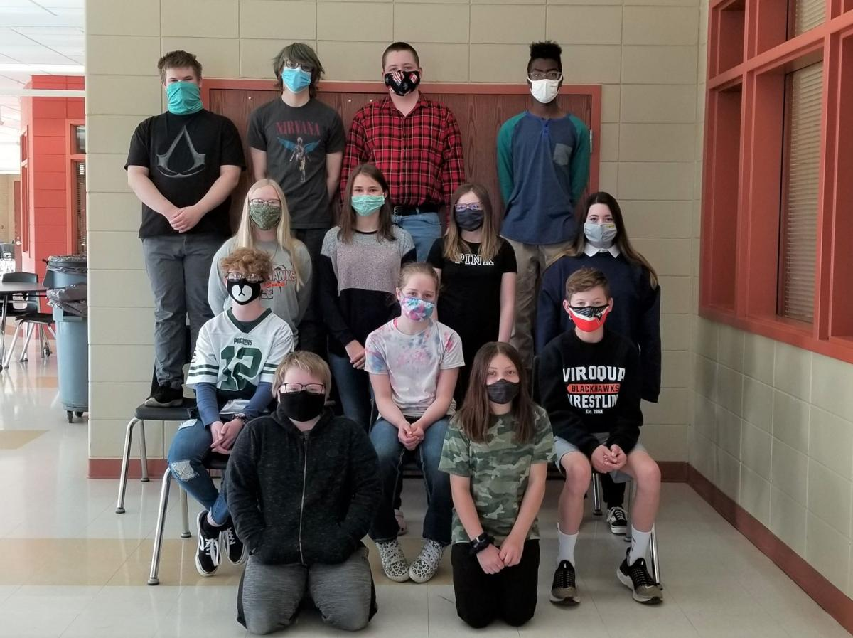 Viroqua Middle School Students of the Month for April