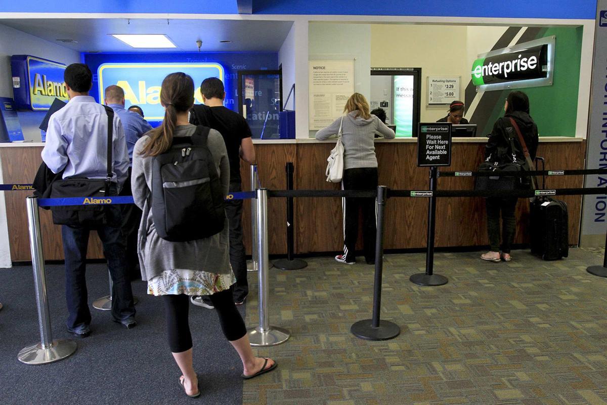 Enterprise car rental at the Bob Hope Airport in Burbank, California as seen on January 25, 2011.