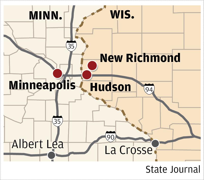 Map of Minneapolis area