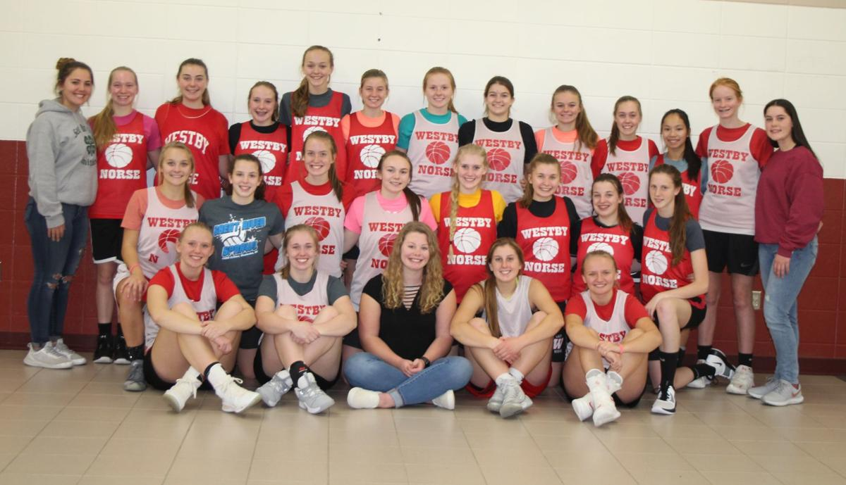 Westby High School girls basketball team 2019-2020